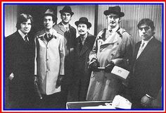 Monty Python;s Flying Circus. The Pythons were: John Cleese, Graham Chapman, Terry Jones, Michael Palin, Terry Gilliam and Eric Idle. Together they made 45 TV episodes over 4 series between 1969 and 1974 and went on to make films together and various other projects individually.