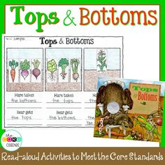 """This activity helps students understand how Hare tricks Bear each season with the """"tops and bottoms."""""""