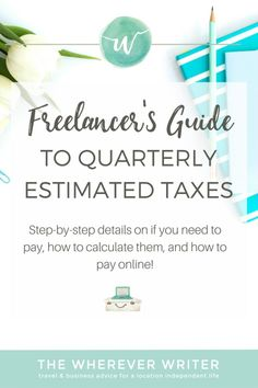 When I started freelancing, I had NO clue how to pay quarterly estimated taxes, or what they even were! In this post I reveal all the things I've learned about paying taxes as a freelancer. Hope this helps!