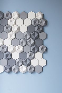Born out of Austrian Designers Patrycja Domanska and Tanja Lightfoot for KAZA Concrete, These Edgy Named Hexagonal Tiles, blends with elegance, simplicity and design for both indoor and outdoor purposes. The asymmetrical design creates a strong effect Concrete Tiles, Concrete Design, Tile Design, Motif Hexagonal, Honeycomb Shape, Deco Restaurant, Beton Design, Acoustic Panels, Ceramic Pottery