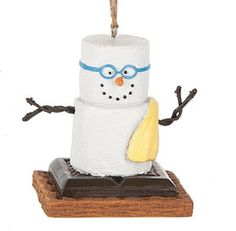 S'mores 2017 Swimming snowman ornament. Midwest of Cannon Falls and CBK. www.flyingcloudgifts.com