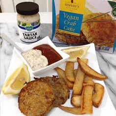 vegan seafood - vegan crabcakes - vegan fish and chips - sophie's kitchen