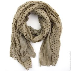 Maxi foulard Duo de pois Taupe marron - Mode Accessoires Foulards, Echarpes  - Bulle2co 9b4cec1e6d2