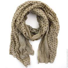 Maxi foulard Duo de pois Taupe marron - Mode Accessoires Foulards, Echarpes  - Bulle2co 2bb2912edf2