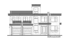 Modern House Plan with Roof Top Deck - thumb - 30 Deck Design, House Design, Deck Building Plans, Cool Roof, Flex Room, Diy Kitchen Decor, Diy Deck, Architectural Design House Plans, Modern House Plans