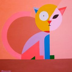 "Saatchi Art Artist Sergei Pechalin; Painting, ""Pacman eats the cat's head"" #art"