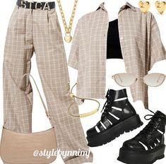 Kpop Fashion Outfits, Girls Fashion Clothes, Edgy Outfits, Cute Casual Outfits, Outfits For Teens, Girl Outfits, Mode Kpop, Swagg, Polyvore Outfits