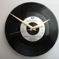 "Mark almond - something's gotten hold of my heart    7"" vinyl record clock"