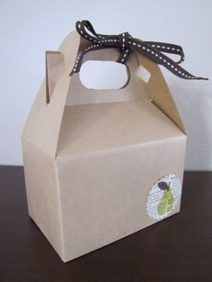 Brown Kraft Gable Box for Packaging-Wedding Favor-Gift Wrapping 4 x 2.5 x 2.5. $5.00, via Etsy.