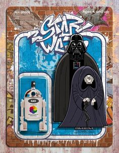 A Funky Collection Of 'Star Wars' Street Art That Looks Like Trading Cards - DesignTAXI.com