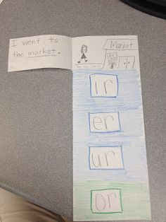 r controlled words flip book: students write word and draw picture. differentiation -- students write a sentence with the r-controlled word. Phonics Reading, Teaching Phonics, Teaching Language Arts, Classroom Language, Phonics Activities, Teaching Reading, Teaching Ideas, Jolly Phonics, Reading Tutoring
