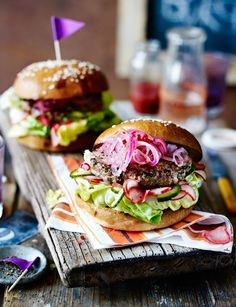 Vietnamese lamb burgers with pickled vegetables - an Asian twist on the classic burger