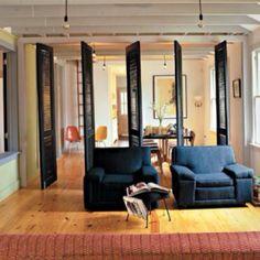 7 Jolting Tips: Room Divider Design Window Frames room divider cabinet counter tops.Room Divider Restaurant Lights room divider movable home office. Decor, Shutter Decor, Living Area, House, Interior Design, Home Decor, Room, Living Room Divider, Bamboo Room Divider