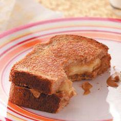 Toasted PB & Banana Sandwiches Recipe