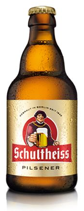 Cerveja Schultheiss Pilsner, estilo German Pilsner, produzida por Berliner Kindl Schultheiss Brauerei, Alemanha. 5% ABV de álcool.