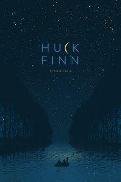 Huck Finn Book cover design.