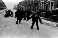 Children from Scotswood Road and the West End of Newcastle enjoying the snow and ice on New Year's Day, Monday, January 1, 1971