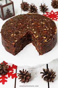 świąteczne ciasto, daktylowe ciasto Nigelli, ciasto na boże narodzenie, bezglutenowe ciasto świąteczne, ciasto świąteczne bez glutenu cukru i laktozy, christmas fruit cake gluten free, sugar free christmas cake, date christmas cake Healthy Cake, Vegan Cake, Cookie Recipes, Dessert Recipes, Desserts, Xmas Food, Polish Recipes, Gluten Free Cakes, Creative Food
