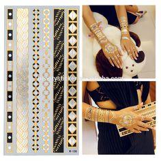 Gold Temporary Tattoos | Wholesale custom metallic temporary tattoo, gold silver foil temporary ...