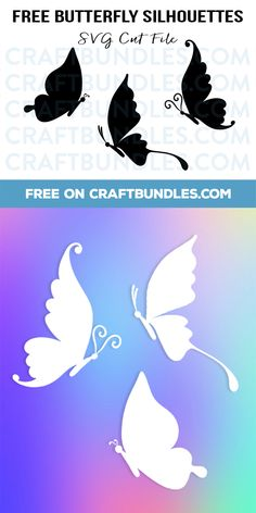 FREE Butterfly Silhouettes SVG Cut File