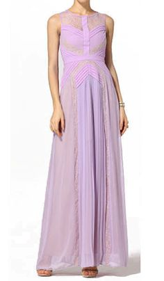 $206.00 BCBG AVI PLEATED EVENING GOWN PURPLE