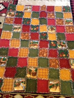 Rag quilt for Mike