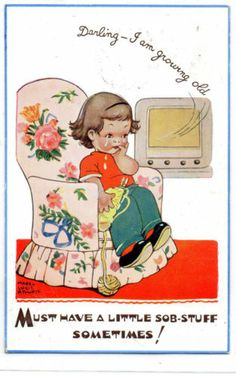 Mabel Lucie Attwell Tears and Television No 5319 | eBay