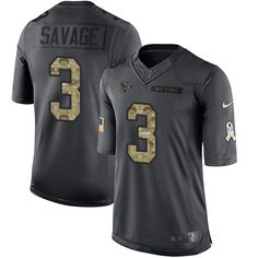 Nike Texans #3 Tom Savage Black Men's Stitched NFL Limited 2016 Salute to Service Jersey