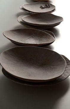Assiettes en grès - Sabine Pagliarulo