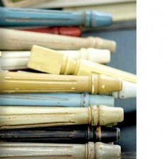 Annie Sloane Chalk Paint Ideas - this post lists the paints & waxes used to get the finishes.