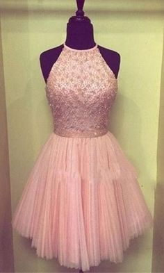 Pink Homecoming Dresses,Beading Homecoming Dress,Cute Homecoming Dresses,Tulle Homecoming Gowns,Short Prom Gown,Sweetheart dress