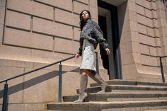 The clean racing stripe makes for a flattering graphic element, further accentuating the Kaethe boot's on-trend western silhouette. Sigerson Morrison, Racing Stripes, Western Boots, Westerns, Duster Coat, Fall Winter, Silhouette, Jackets, Fashion