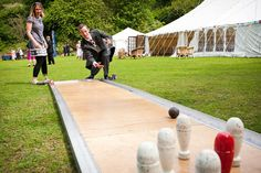 Lawn bowling  a fun game for your outdoor wedding reception. Photo credit John Rouston Via Wed Loft #receptiongames
