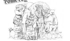 Treak or Treat Comic Book Artists, Comic Artist, Comic Books Art, Joker Sketch, Face Sketch, Character Modeling, Comic Character, Joker Two Face, Killer Croc