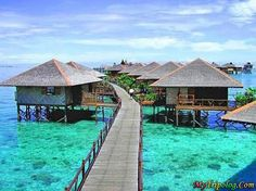 My dream vacation would be to Belize and to stay in one of these bungalows on the water.  Some day...