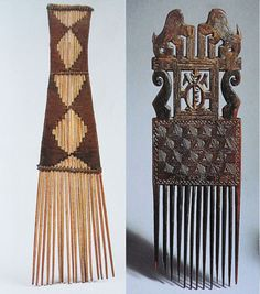 Comb, Curl and Coiffer: African Hairstyles Dark Tide, Tribal Hair, Adinkra Symbols, African Hairstyles, Headdress, African Fashion, Hair Pins, Hand Carved, Curls
