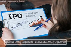 Business woman is analysing IPO (Initial Public Offering) for in