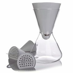 Soma Hourglass Carafe Water Filtration System - Finally! A decorative water pitcher that filters  - excellent tasting water!
