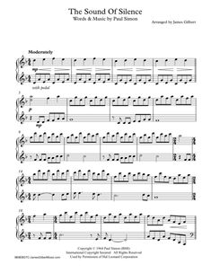 The Sound Of Silence. For Solo piano