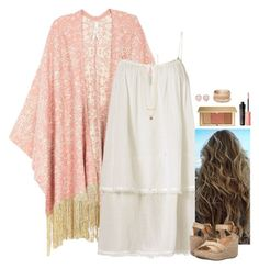 """""""Take me to the Beach"""" by kc-cupcake-lover ❤ liked on Polyvore featuring Melissa McCarthy Seven7, Heidi Klein, Blowfish, Estée Lauder, Benefit, Monica Vinader, Red Camel, beach, summerdate and plus size clothing"""