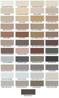 Color Fast Caulk to Match Custom Building Products Colored - Sanded/Rough Interior Paint Colors For Living Room, Paint Colors For Home, Room Colors, House Colors, Decoration Palette, Paint Color Schemes, Colored Sand, Exterior Paint, House Painting