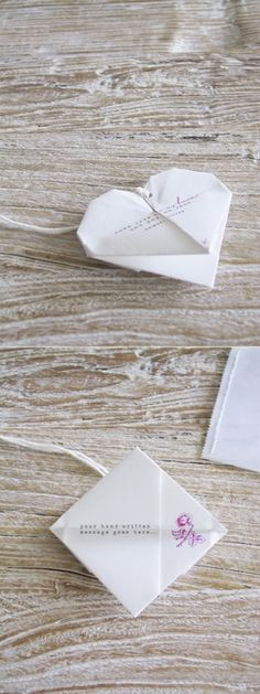 origami heart invitations by TheSushiFox