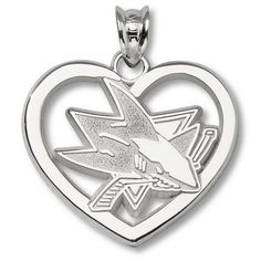 """Sterling Silver SAN JOSE SHARKS NEW LOGO HEART by Logo Art. $43.95. Enjoy this official NHL licensed San Jose Sharks pendant. A great gift for any San Jose Sharks fan!Express your team pride with jewelry items from LogoArt®.PendantSize: 5/8""""Sterling silver finishExpress your team pride with jewelry from LogoArt®. LogoArt® pendants are available in 14KT and 10KT gold, sterling silver and gold plated sterling silver. The precise detail of your favorite team's ..."""