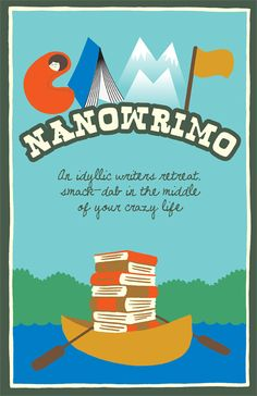 Shopping List: Camp NaNoWriMo Canoe Poster (I plan to rotate my NaNoWriMo posters and this fits my color theme!)