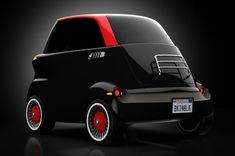 This is the eSetta, inspired by the legendary BMW Isetta, made to be as compact as possible with its intent being set for the car sharing environment across the earth.