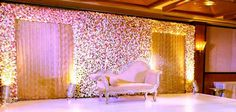 4 Royal Wedding Stage Decoration Plans For The Posh Couple! Your royal wedding stage decoration is w Wedding Stage Decorations, Engagement Stage Decoration, Reception Stage Decor, Desi Wedding Decor, Wedding Stage Design, Luxury Wedding Decor, Wedding Reception Backdrop, Marriage Decoration, Wedding Mandap