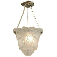 Exceptional French Art Deco Ceiling Light by Hugue  $2575