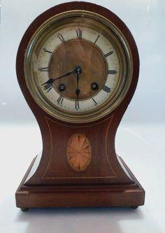 Online veilinghuis Catawiki: Balloon clock - Mahonie met inlegwerk - Periode 1900