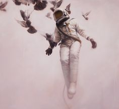 Jeremy Geddes Cosmonaut Prints space posters and prints painting illustration