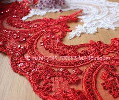 FP105-24cm-1yard-Dress-Sequins-Lace-Trim-Ribbon-Applique-Sewing-Handicrafts-DIY